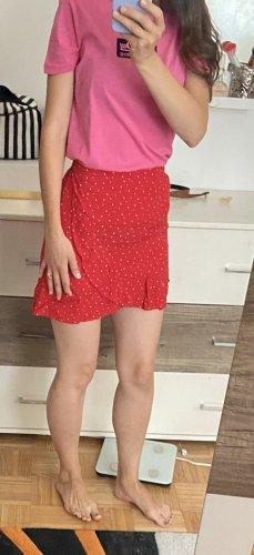 Review Jupe à plis rouge-blanc