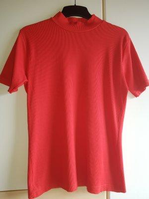 Camisa de cuello de tortuga rojo