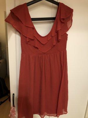 Clockhouse Chiffon jurk rood