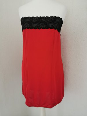 Robe tube noir-rouge