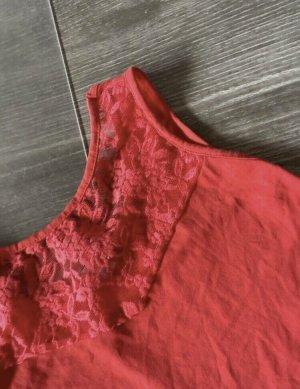 H&M Peplum top rood