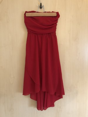 Nadine High Low Dress red polyester