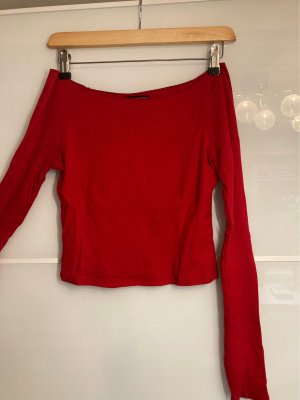 Rotes Schulterfreies Top