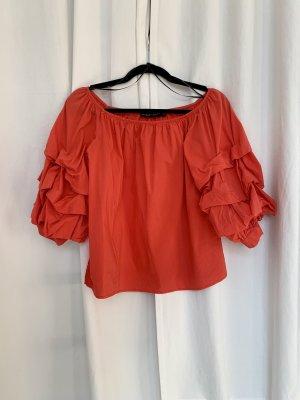 Zara Bluzka typu carmen czerwony