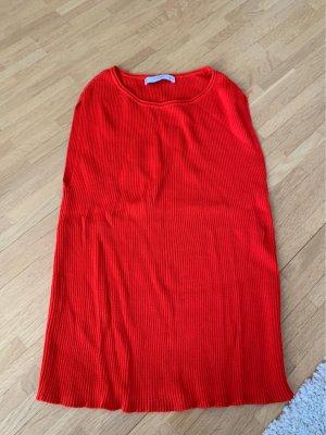 Mango Basics Chemise côtelée rouge