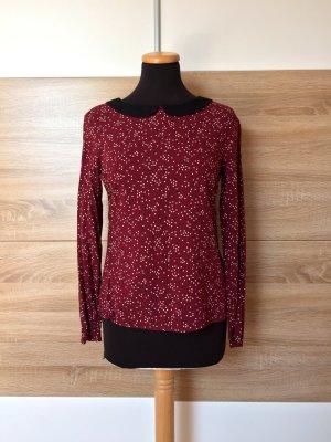 Rotes Shirt, Herzen Bubikragen Pullover von Clockhouse, Gr. 36 (NEU)