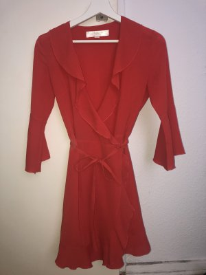 Bohoo Robe portefeuille rouge