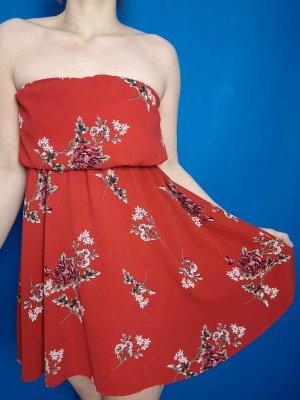 Parisian Off-The-Shoulder Dress dark red-pink mixture fibre