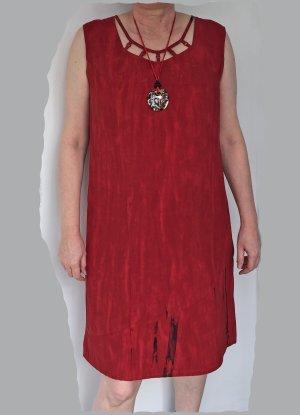 Chalou Summer Dress dark red viscose