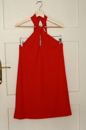 H&M Halter Dress red polyester