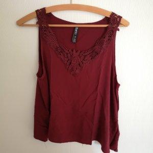 Flame Camisa de mujer burdeos