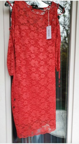 Rotes Spitzen Kleid von GUESS - NEU MIT ETIKETT
