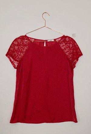 rotes spitzen T-Shirt