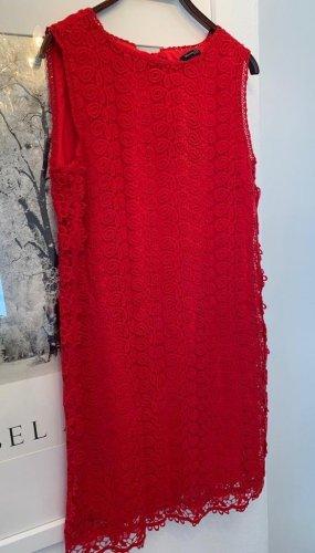 Massimo Dutti Lace Dress red