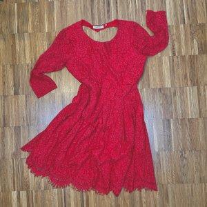 Naf naf Lace Dress red