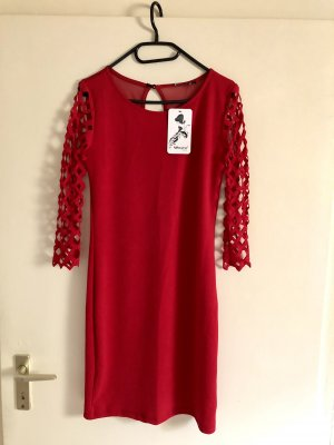 Rotes Stretch Partykleid