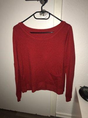 Camicia a maniche lunghe rosso scuro