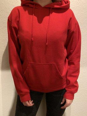Brave Soul Sweter z kapturem czerwony Bawełna