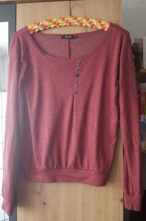 Rotes Sweatshirt mit Knöpfen in Größe M