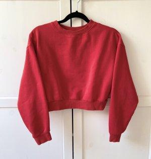 Rotes Sweatshirt oversized
