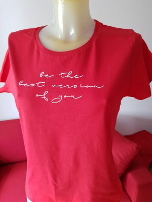 "rotes T-Shirt ""be the best..."""