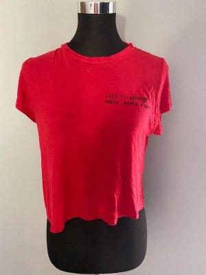 Rotes T-Shirt, Gr. M / Cropped Shirt