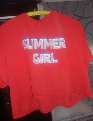 C&A T-Shirt dark orange-red