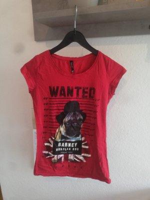 rotes T-Shirt mit Druck M