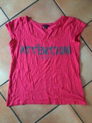 Rotes T-Shirt mit grauem Aufdruck, Amisu, Gr. S