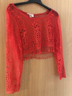 H&M Crochet Top multicolored