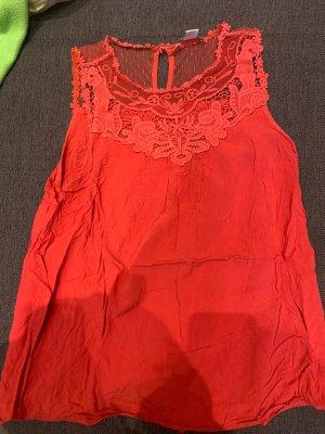 Amisu Lace Top red