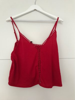 H&M Top de tirantes finos rojo-rojo ladrillo