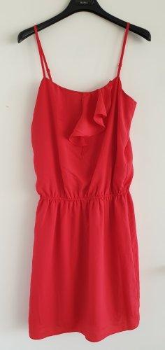 Rotes Trägerkleid mit Volant von Esprit Collection,  Gr. S