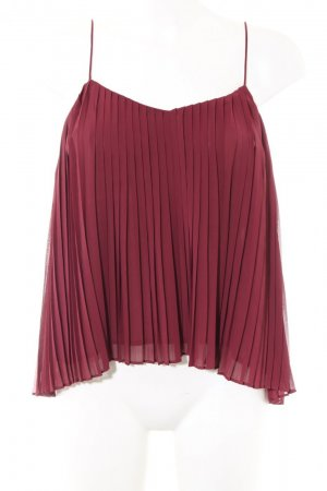 Abercrombie & Fitch Spaghetti Strap Top raspberry-red polyester