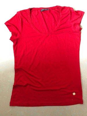 rotes Tshirt von Zero mit V- Ausschnitt, Gr. 36