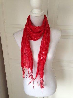Rotes Tuch mit Silberfäden