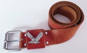 Replay Cinturón de cuero rojo claro