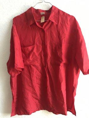 Short Sleeve Shirt red silk