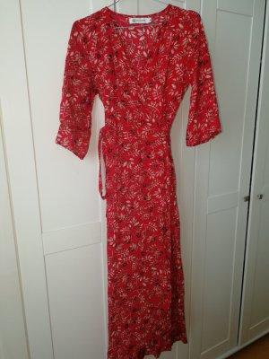Kopertowa sukienka czerwony-ceglasty