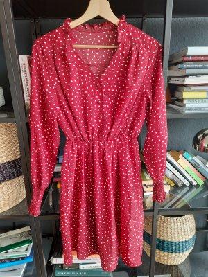 Rotgepunktetes Sommerkleid 36