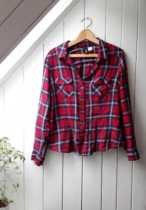 H&M Camisa de leñador rojo