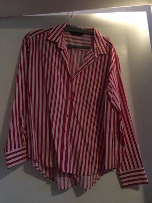 Zara Koszulowa bluzka biały-czerwony
