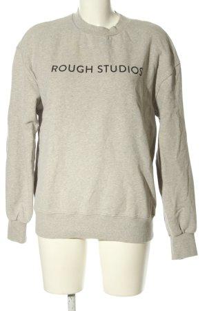 Rough Studios Sweatshirt hellgrau meliert Casual-Look