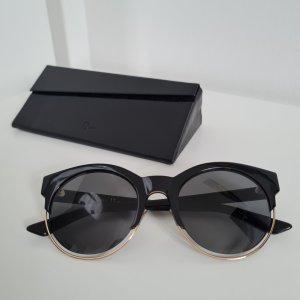 Dior Oval Sunglasses black-gold-colored mixture fibre