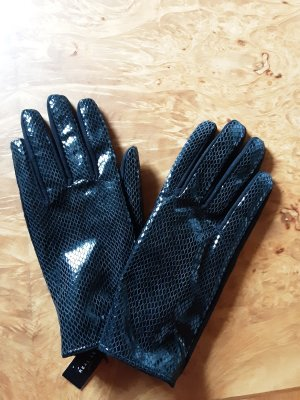 Rox & Ann London Leather Gloves black leather
