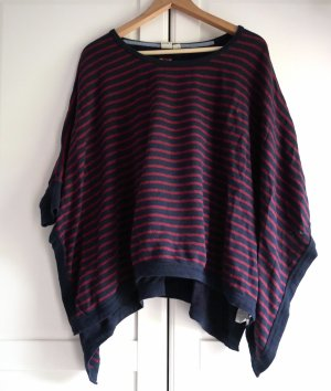 Roxy Knitted Poncho red-dark blue