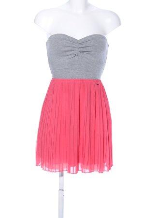 Roxy Bandeau Dress light grey-pink flecked casual look