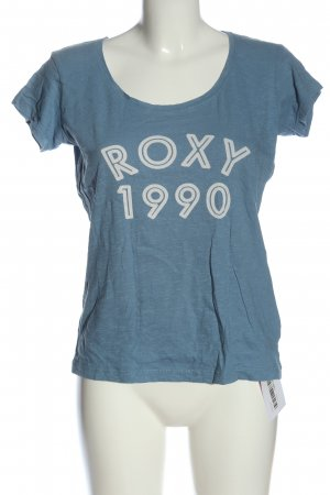 Roxy Basic Shirt blue printed lettering casual look
