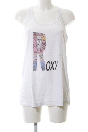 Roxy Basic Top weiß Schriftzug gedruckt Casual-Look