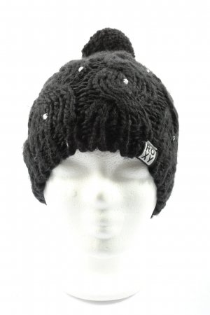 Roxy Baskenmütze schwarz Zopfmuster Casual-Look